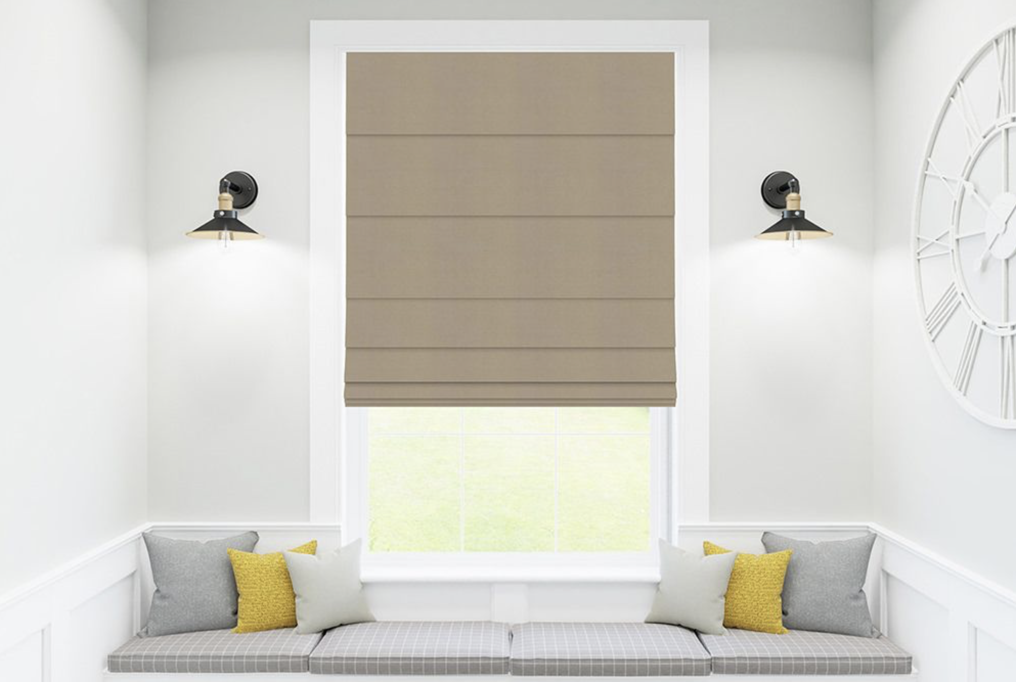 Roman blinds are great for bedrooms and sitting rooms
