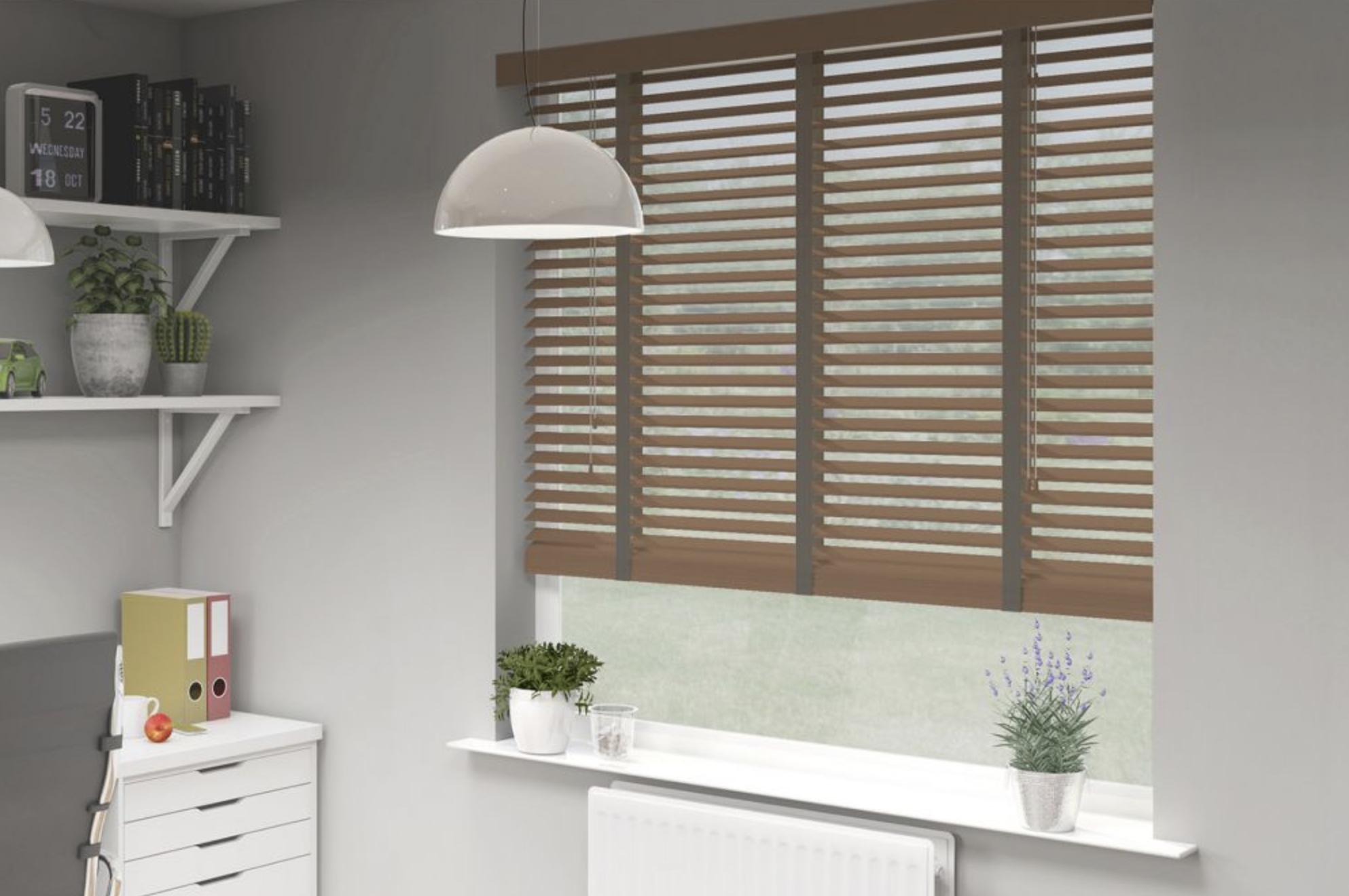 Wood slats make Venetian blinds an eco friendly choice