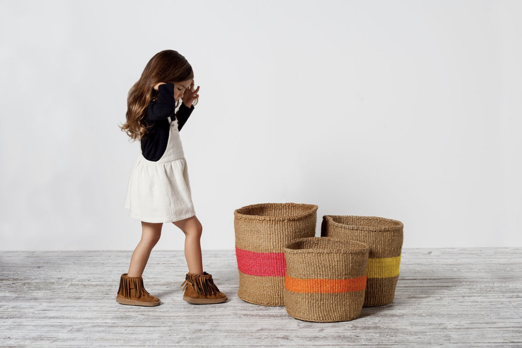 Fair trade woven sisal baskets for storage from Avery Row