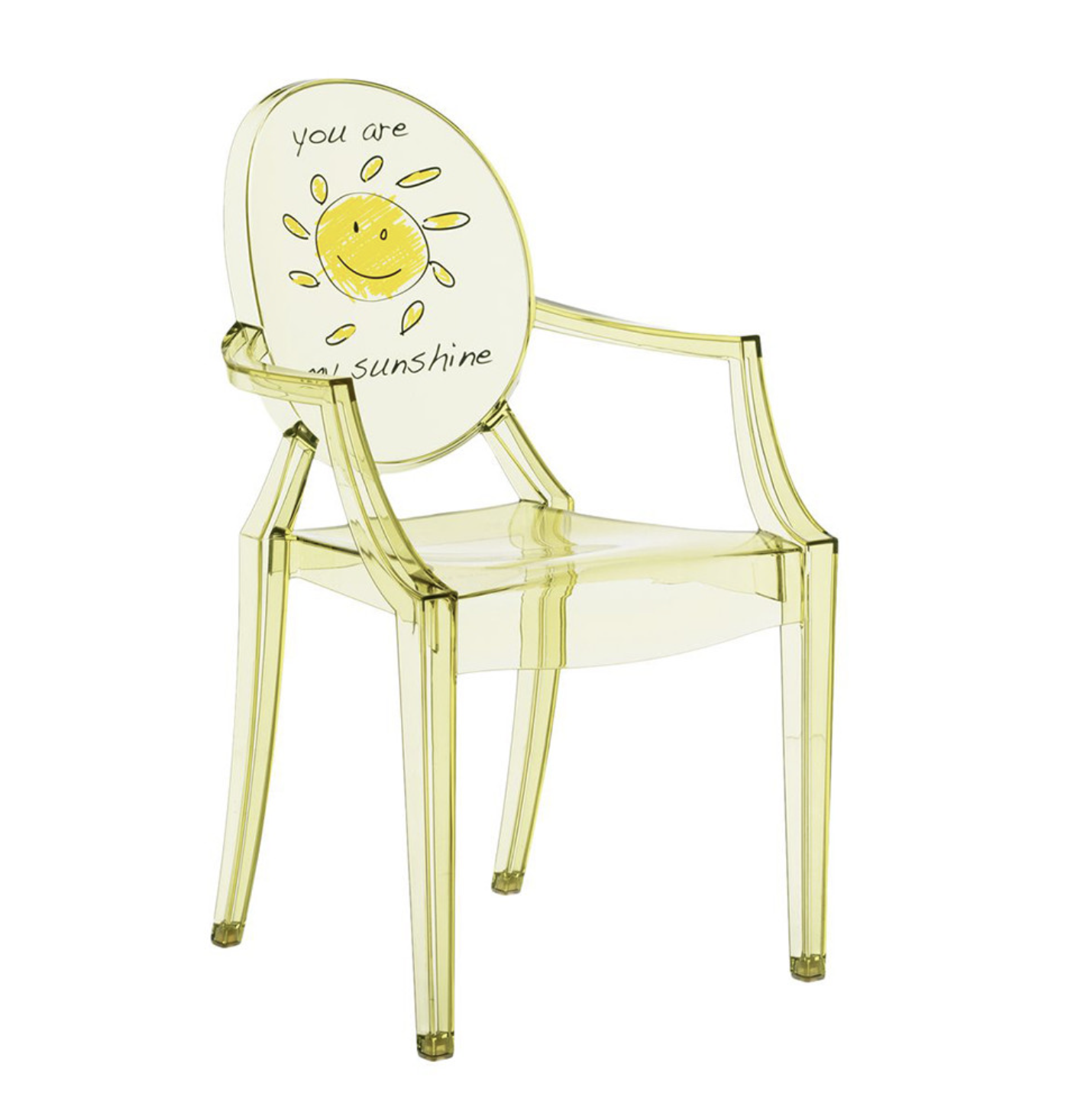 Kartell's LouLou Ghost chair for children, a design classic
