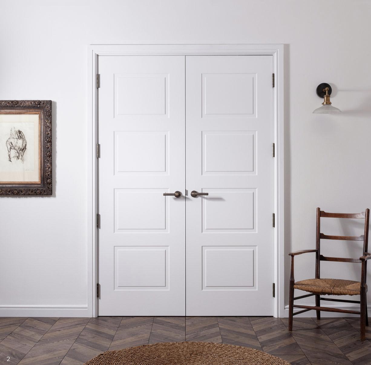 Maverick Doors Sedgewick door comes pretty much ready to hang