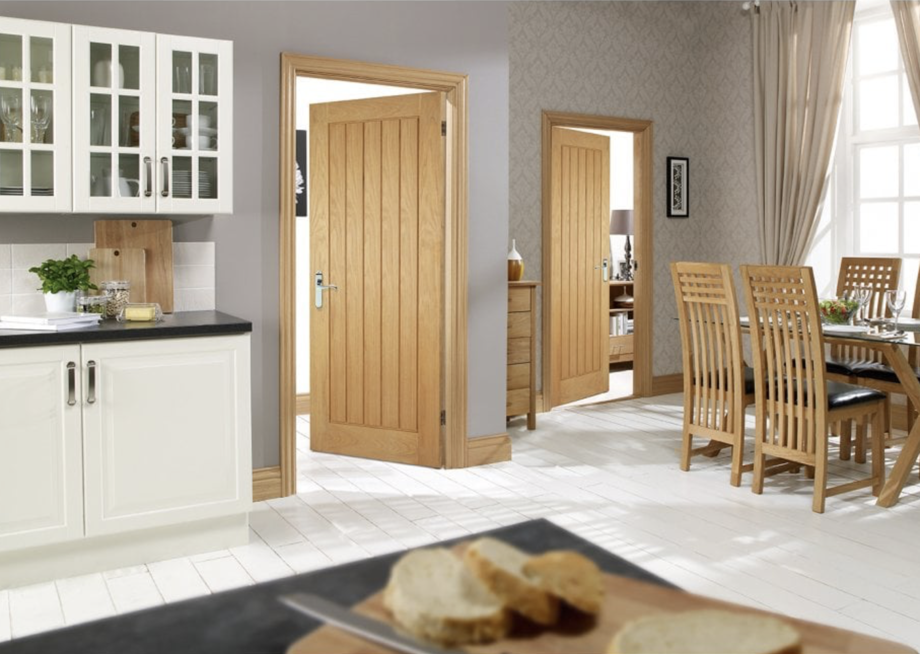 Oak Mexicano Internal Door, from £88, solid core, The Posh Door Co