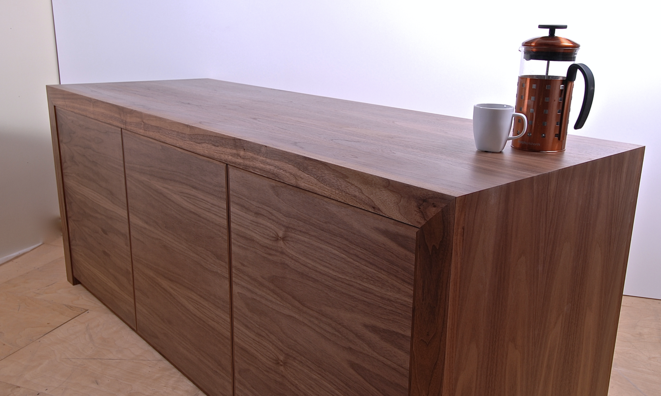 Leics-based Sealey Furniture made this modern walnut sideboard for a client's home. Around £2,000