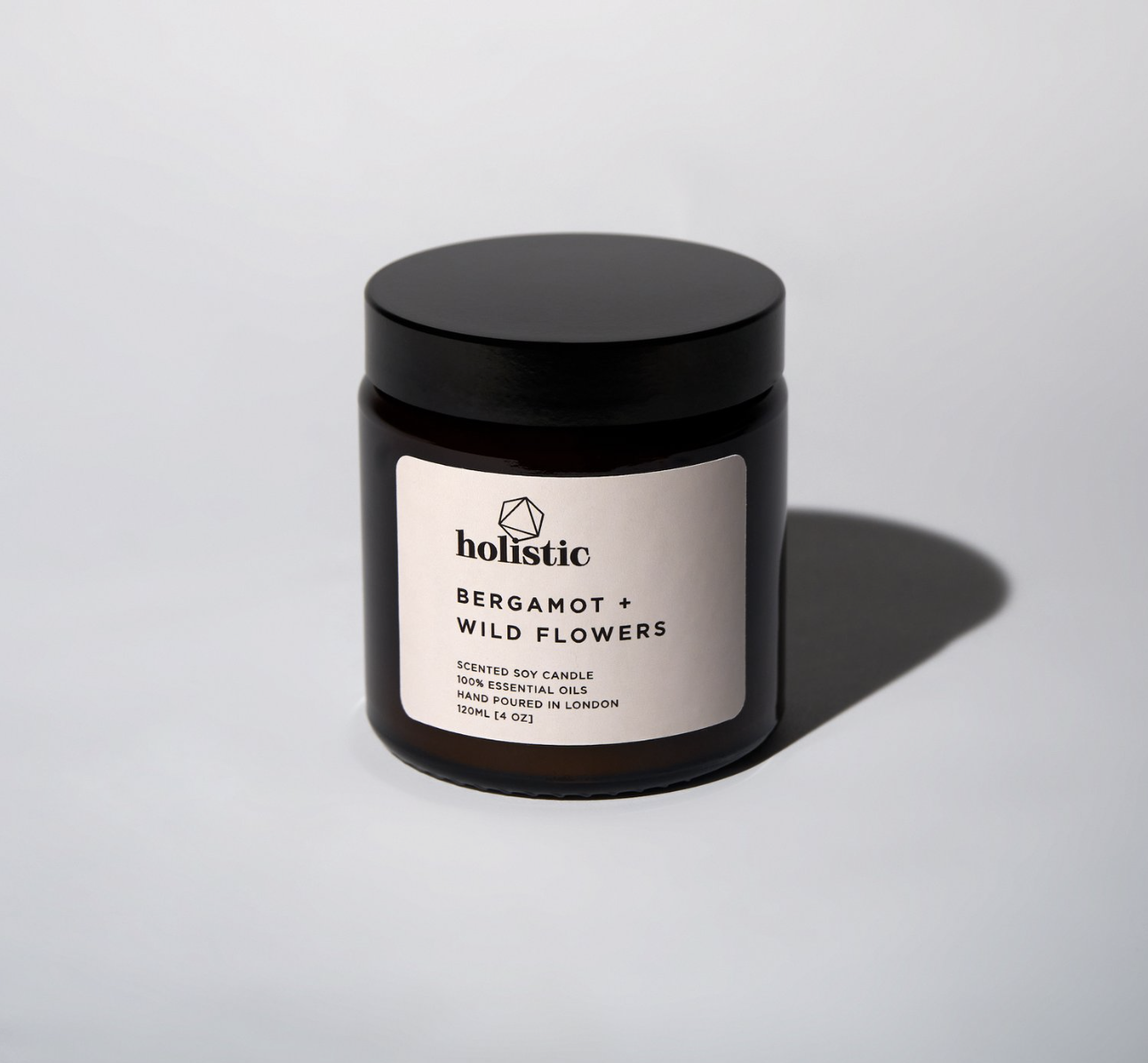 Holistic candles are hand poured soy wax, vegan friendly