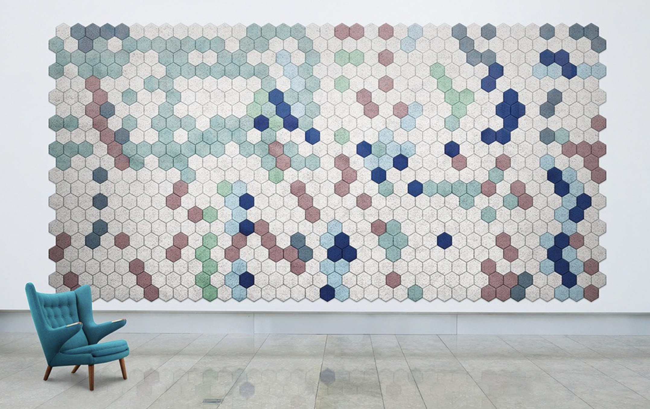 Sweden's Baux makes acoustic tiles in funky shapes and colours