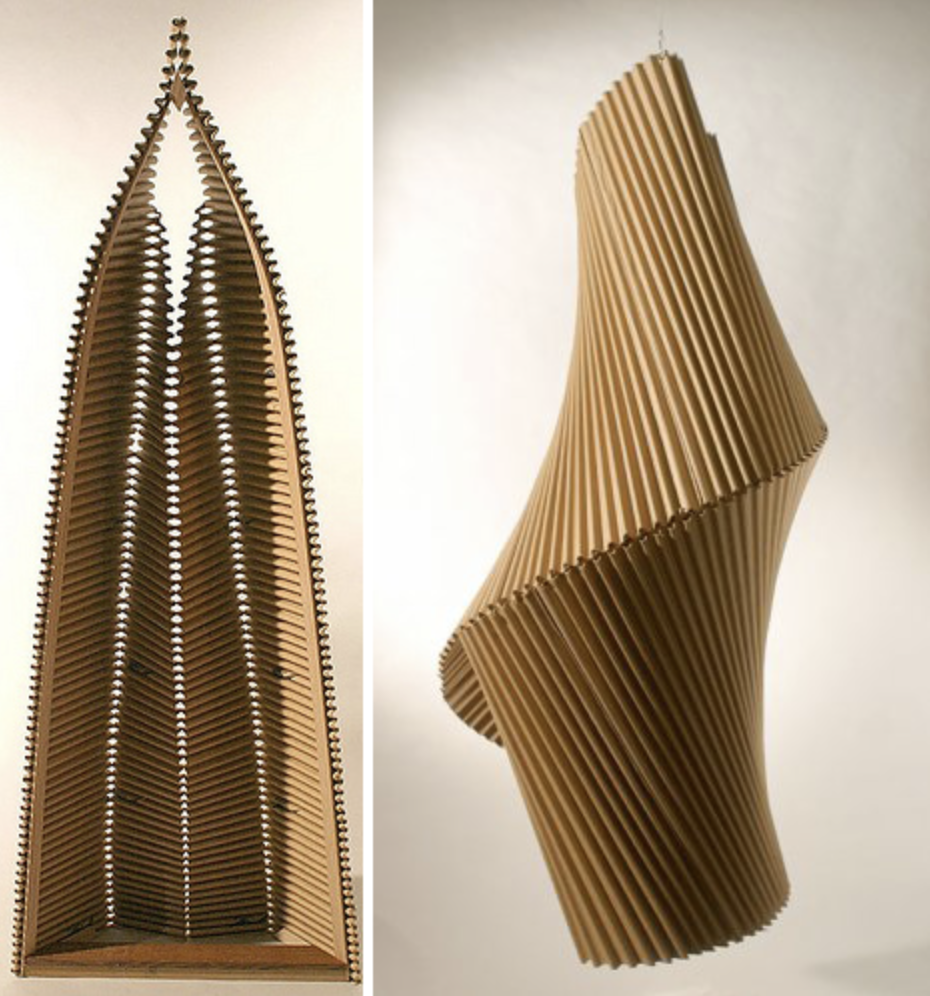 US artist Alex Uribe makes beautiful sculptures from cardboard