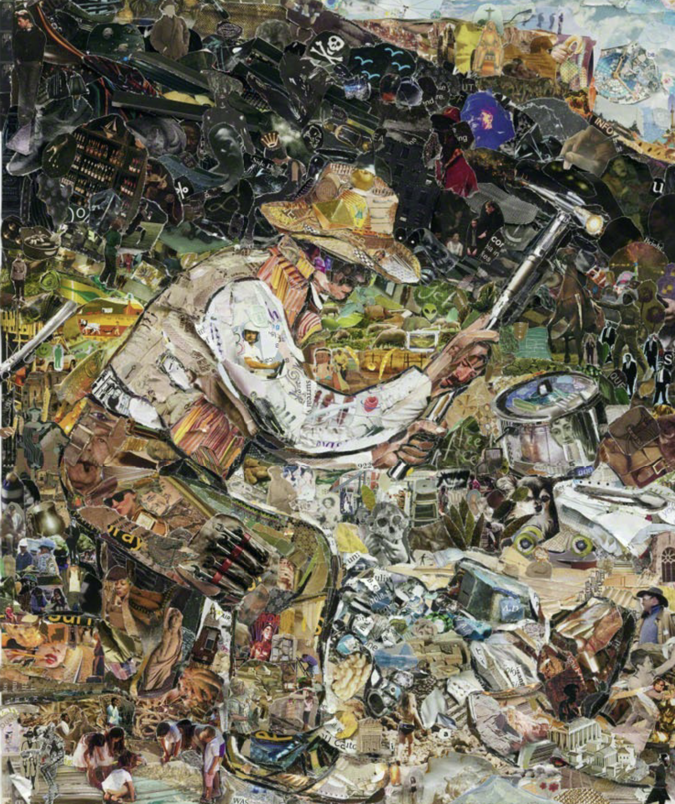 Brazilian artist Vik Muniz uses recycled materials to recreate great art such as The Stone Breaker,