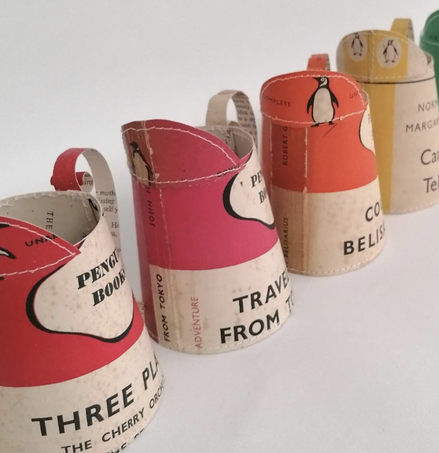 Limited edition Penguin paperback milk jugs by Jennifer Collier at madebyhandonline