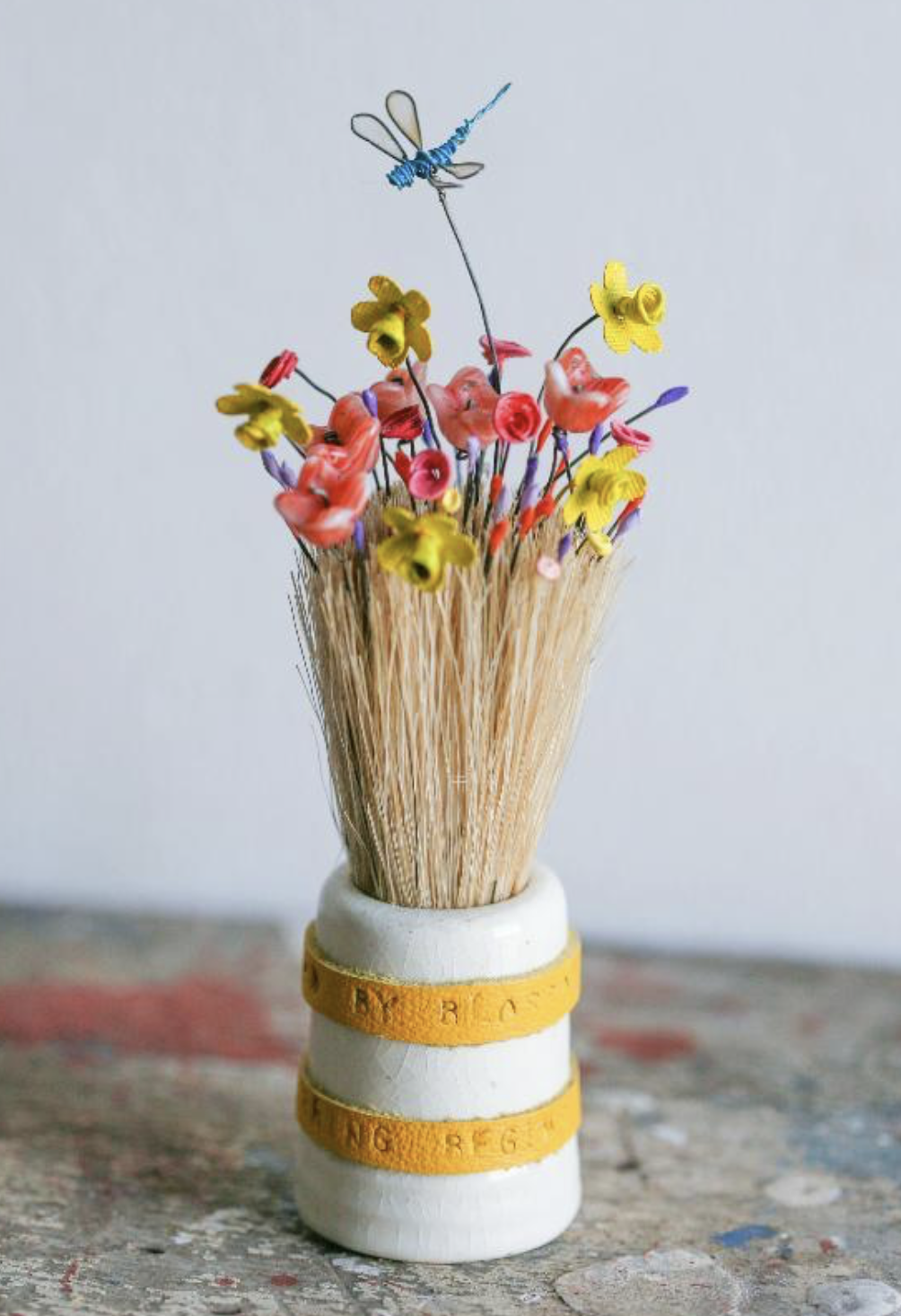 The Blossom Brush by Little Burrow Designs. madebyhandonline.com