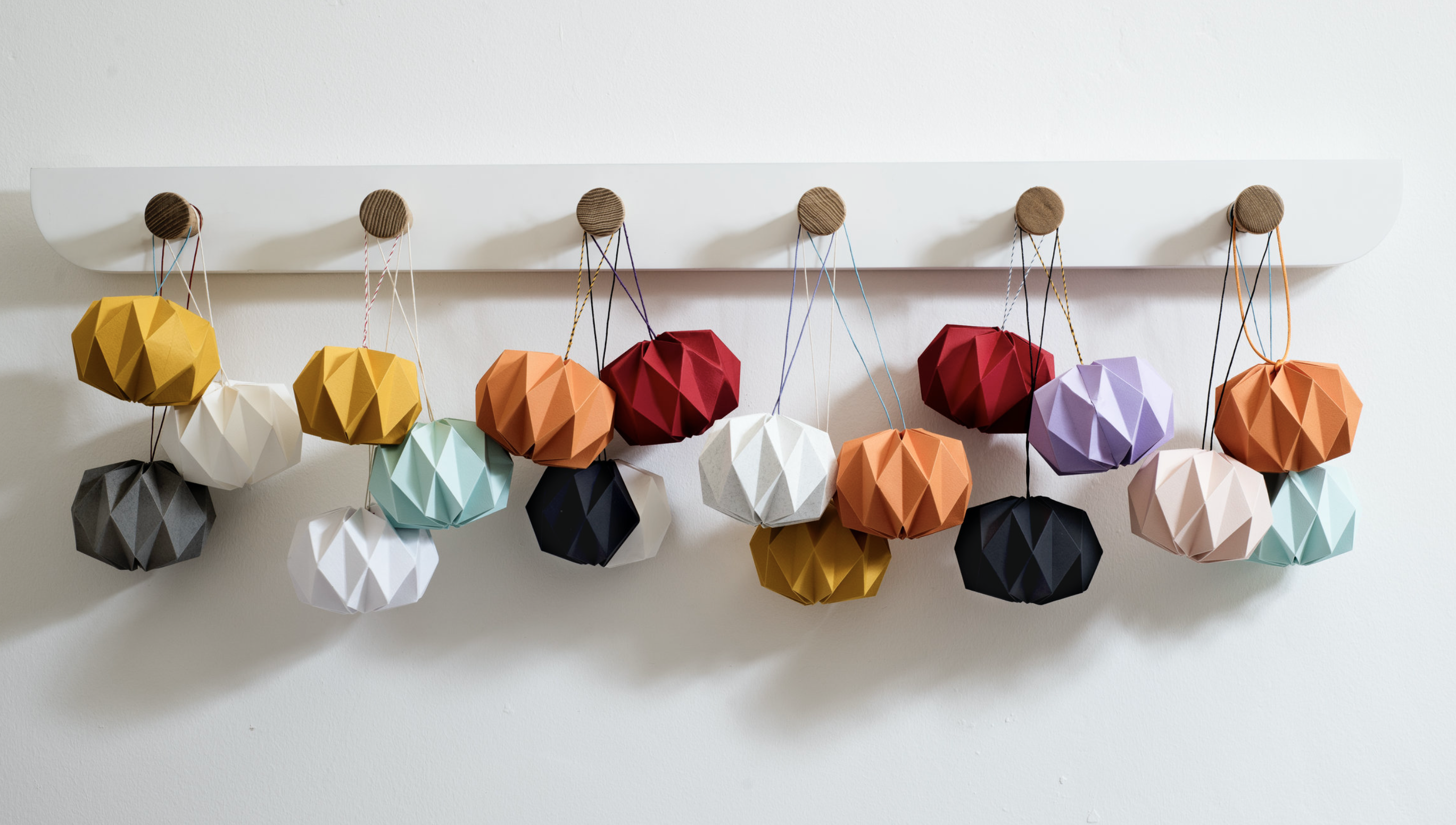 Kate Colin Design hand folded paper baubles