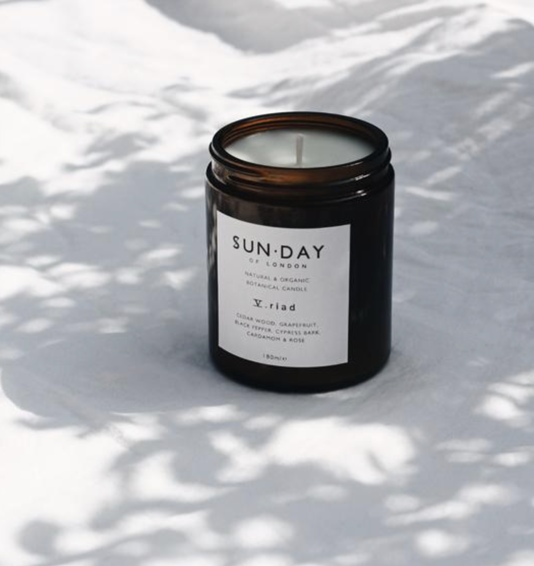 Sunday of London scented candles contain nothing synthetic