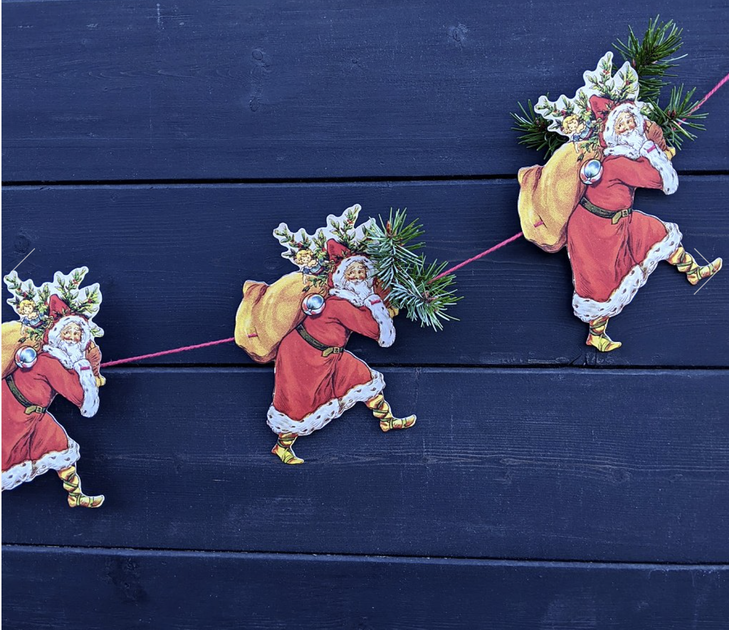Father Christmas paper garland, 3m string, £5.75 at The Danes