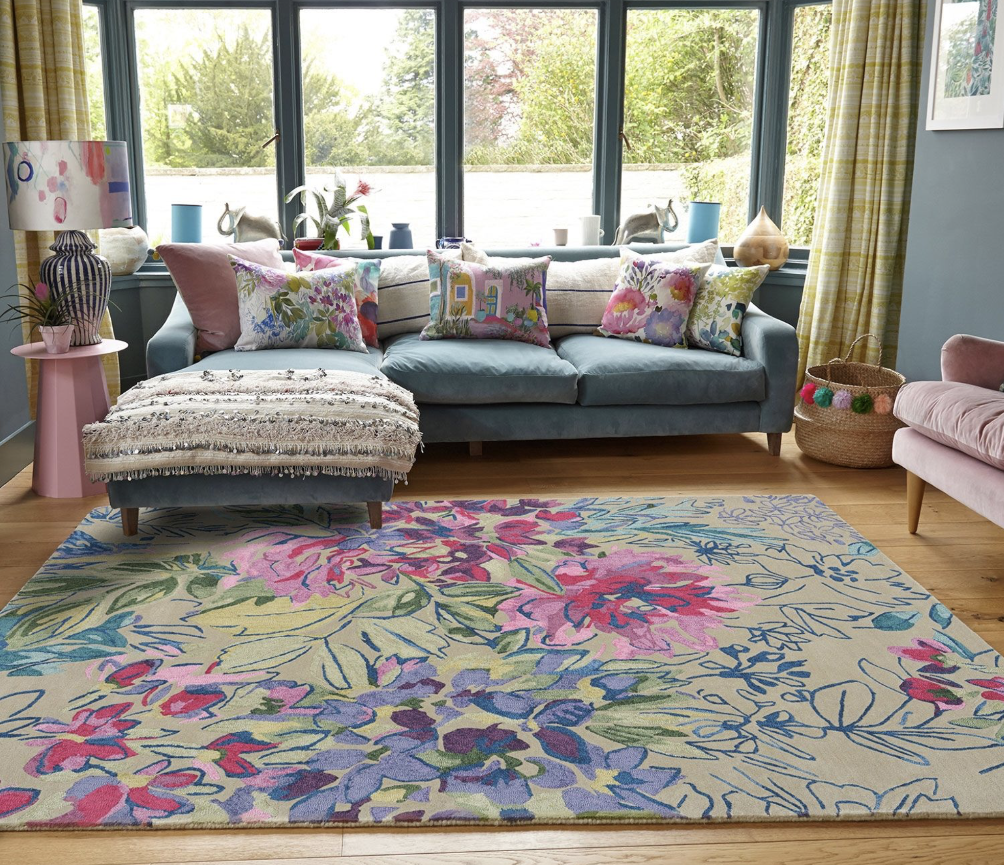 Bluebellgray Ines wool rug, made to order in Holland by Brink & Campman