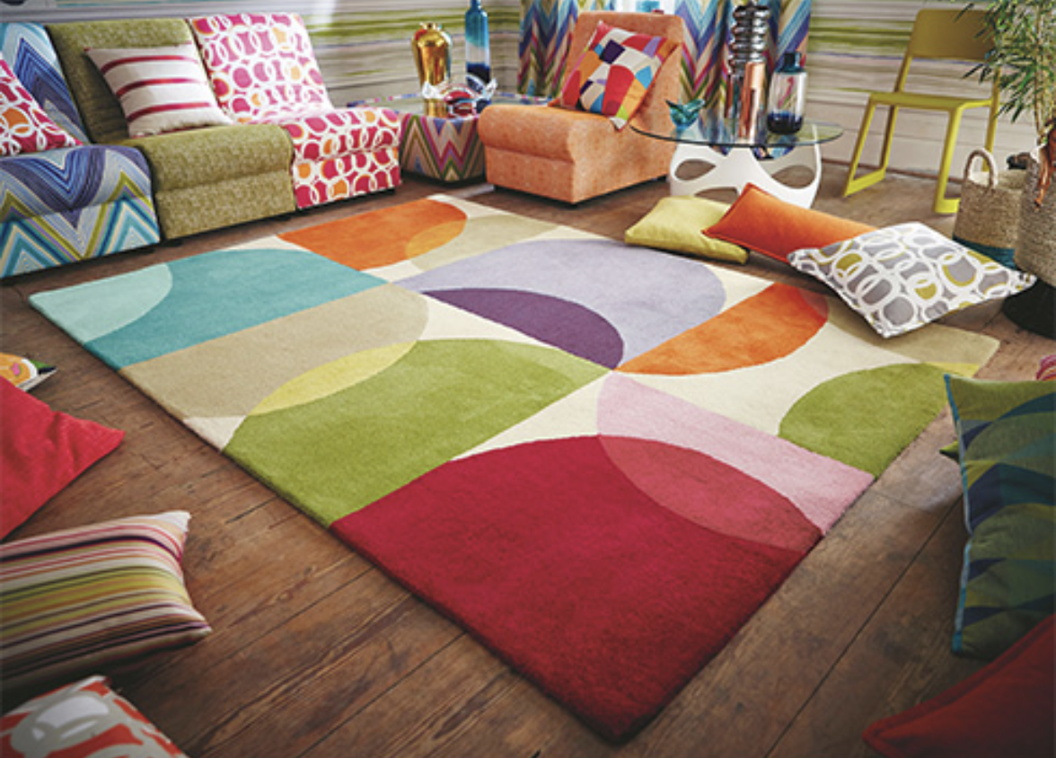 Scion's Kaleido Pop wool rug with cotton backing