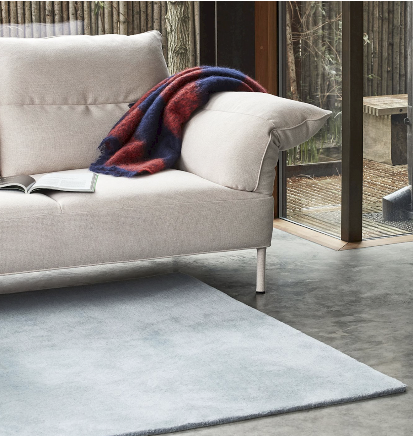 if you want a plain colour rug, Denmark's Hay's No 2 rug in pure wool is simple and pleasing