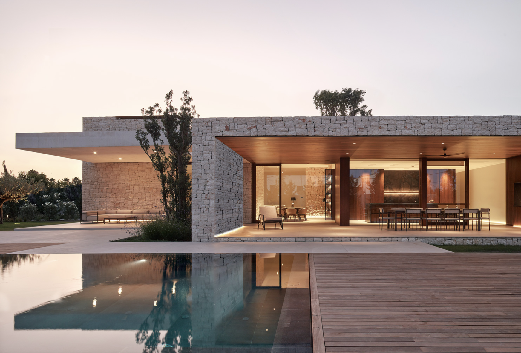 Madrigal house is based on boxes and courtyards