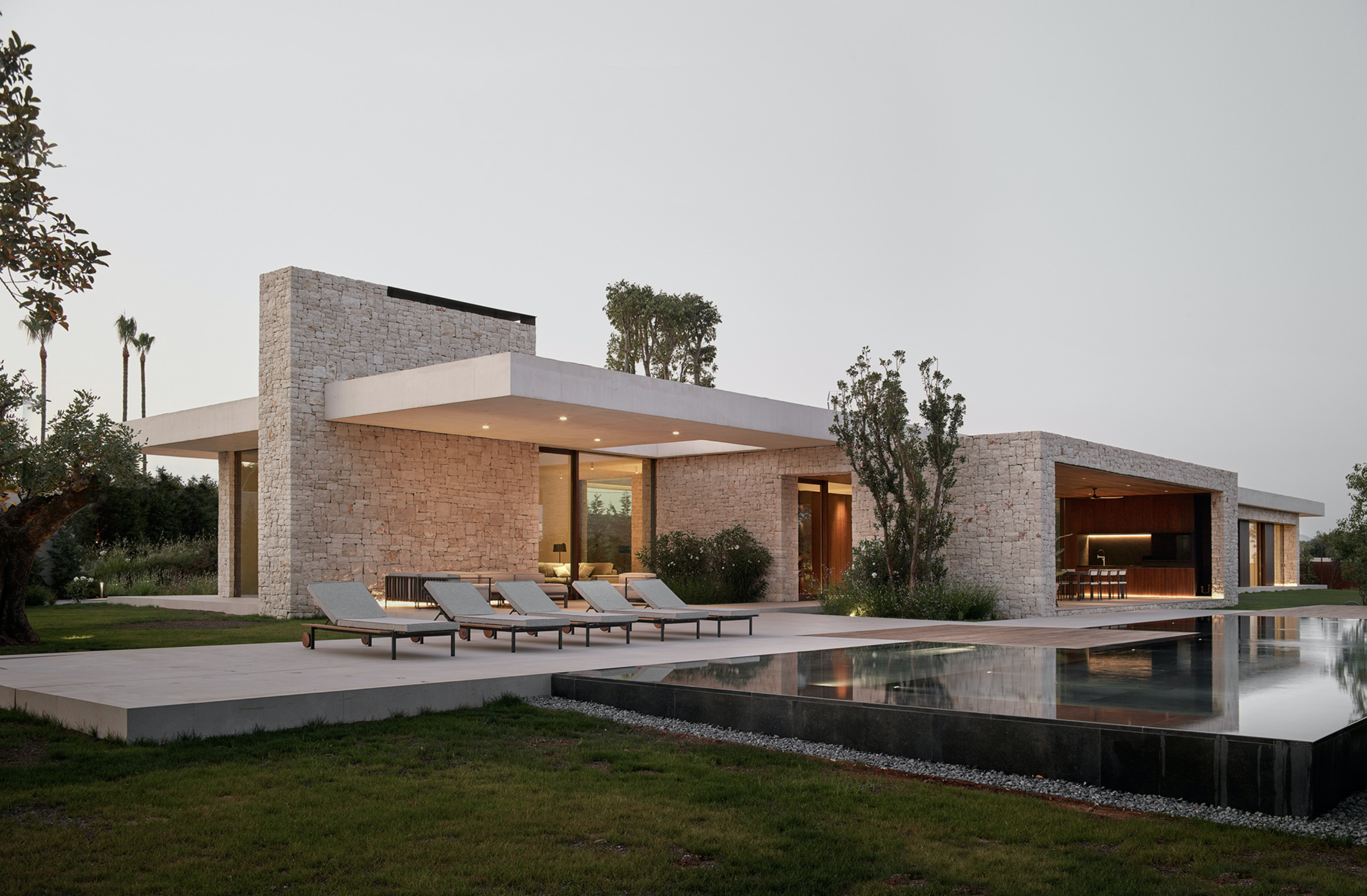 The house blends interior and exterior seamlessly