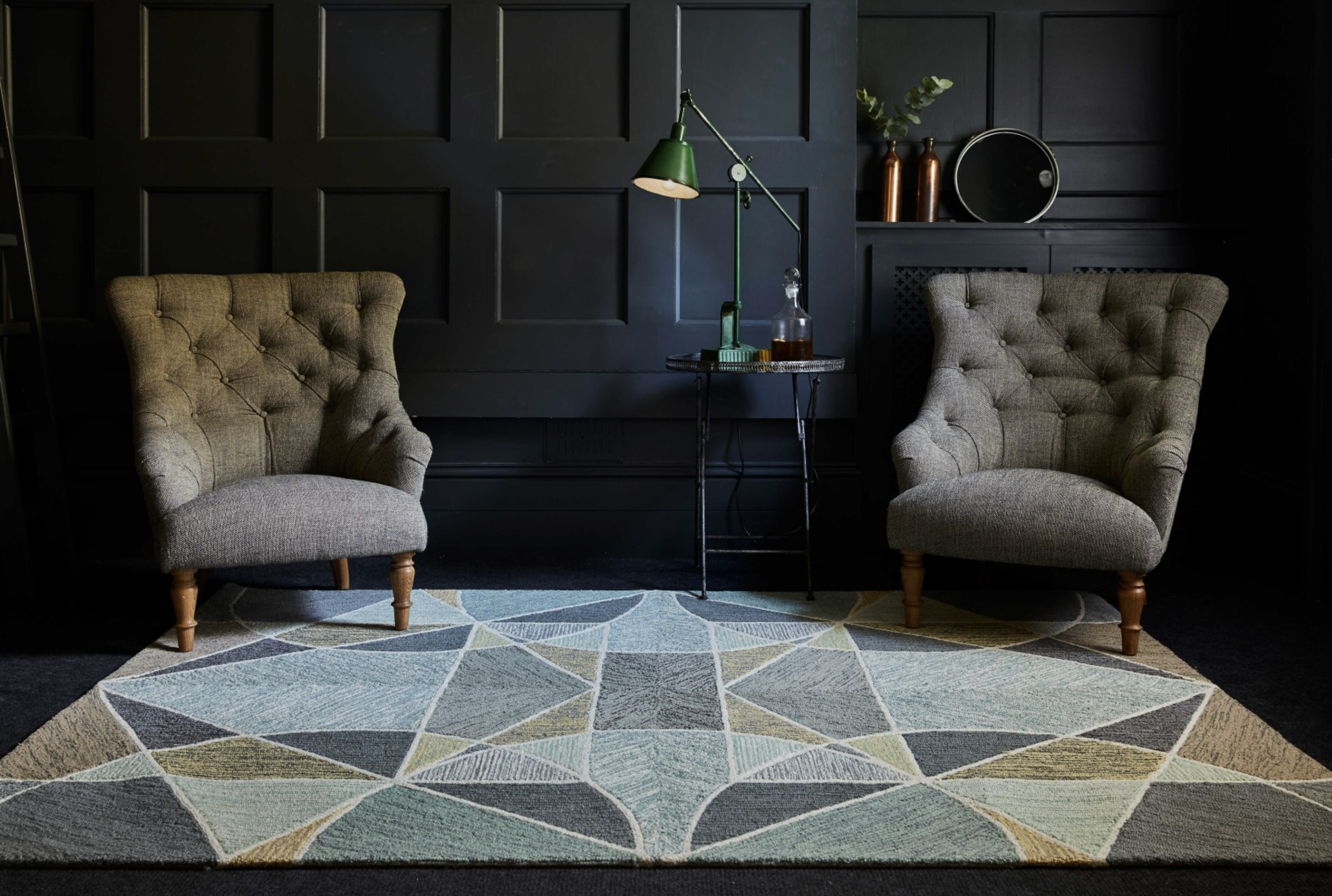 Geoge wool rug, Goodweave certified, by Lindsey Lang