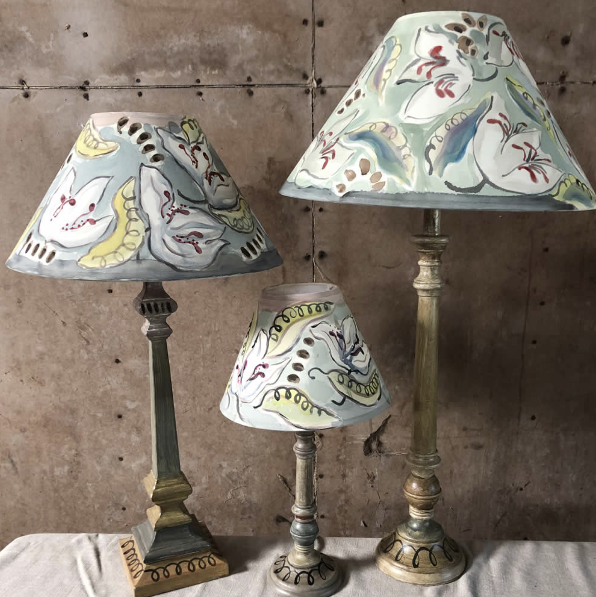 Bloomsbury Revisited lampshades