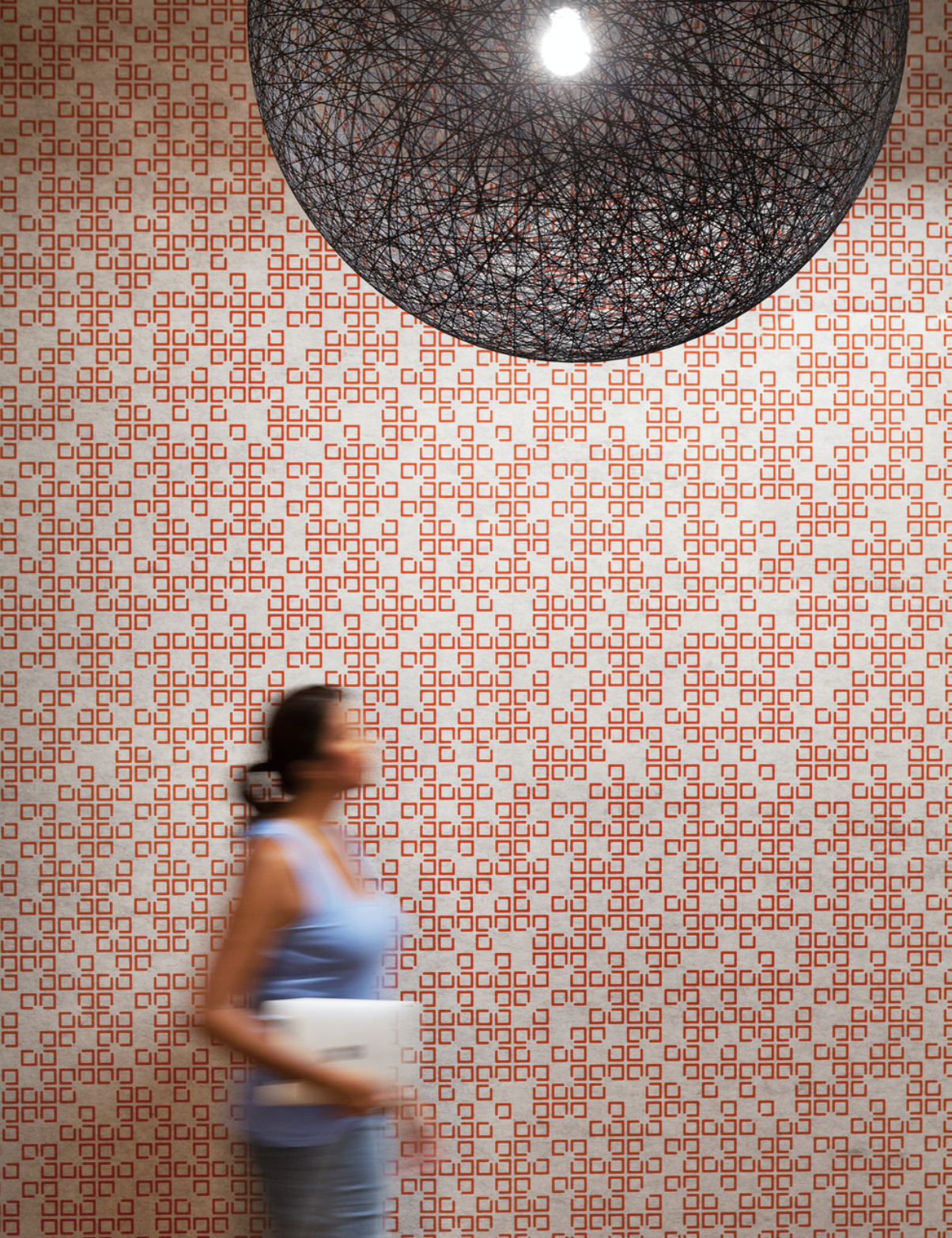Mura acoustic wallpaper from Woven Image contains recycled PET