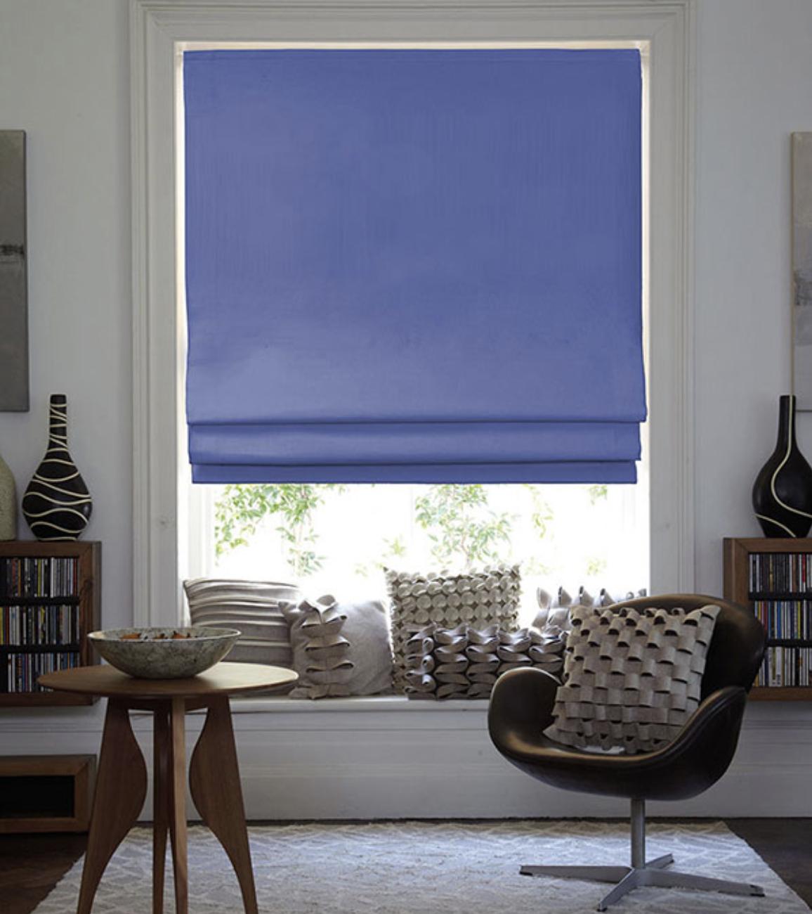 Roman blinds suit most rooms