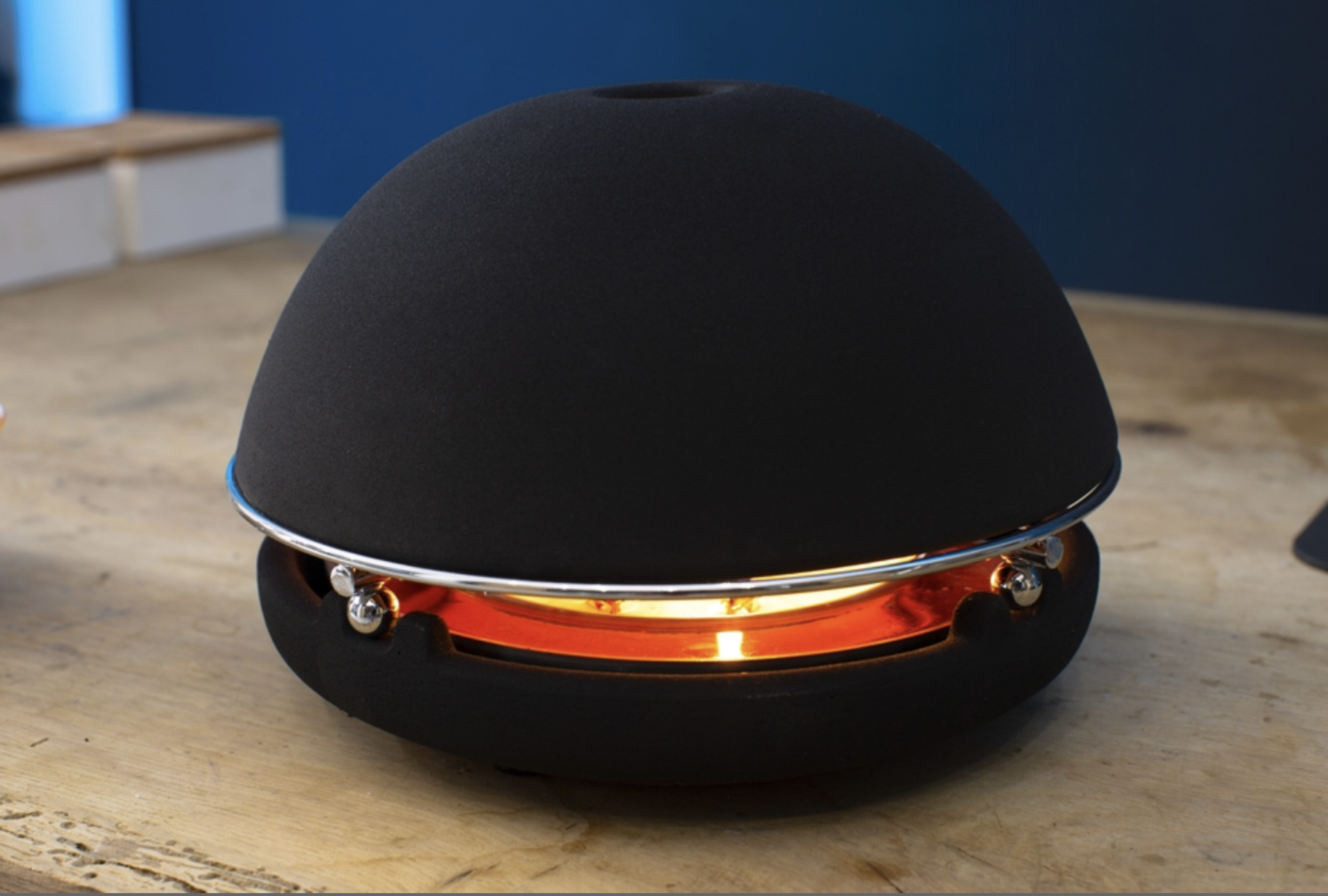 Egloo in black. The company offers essential oils to give scent if you want too