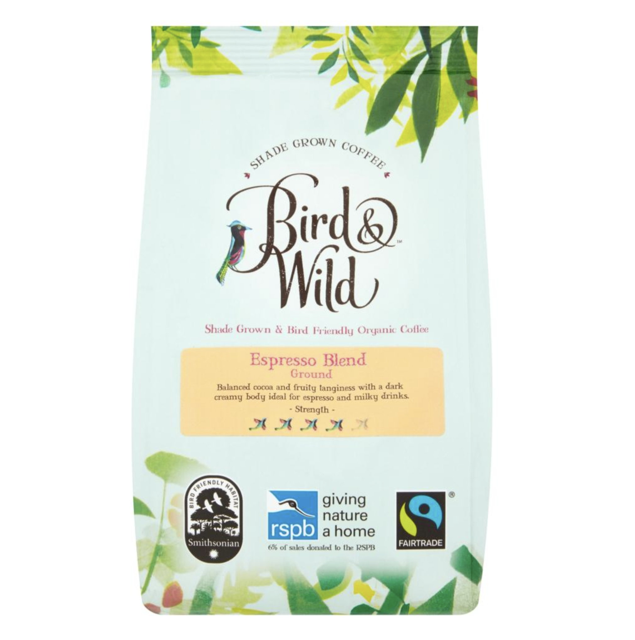 For the coffee loving twitcher..Bird & Wild coffee donates 6% of proceeds to the RSPB