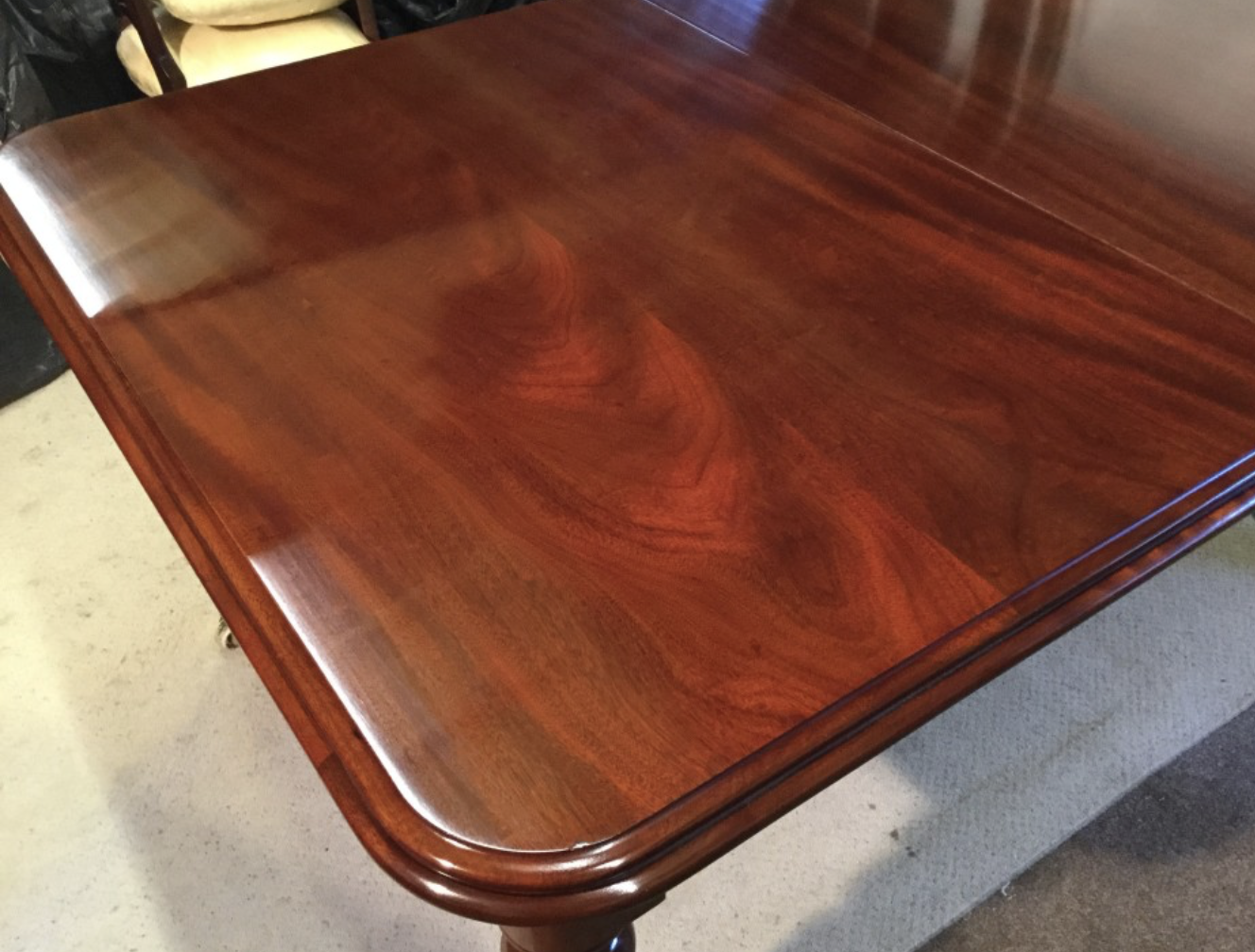 French polish achieves a deep shine