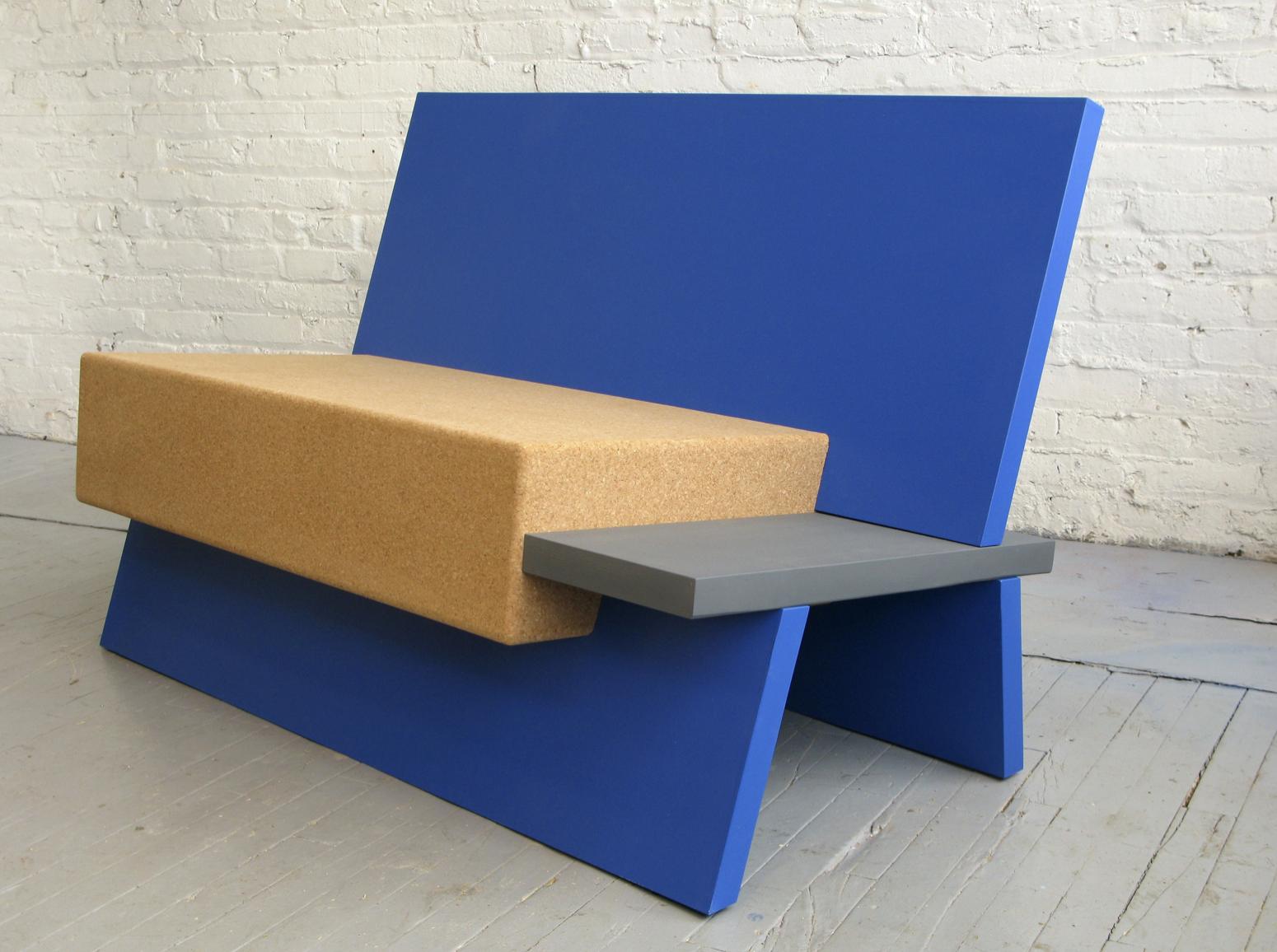 US furniture designer Daniel Michalik uses a lot of cork in his work