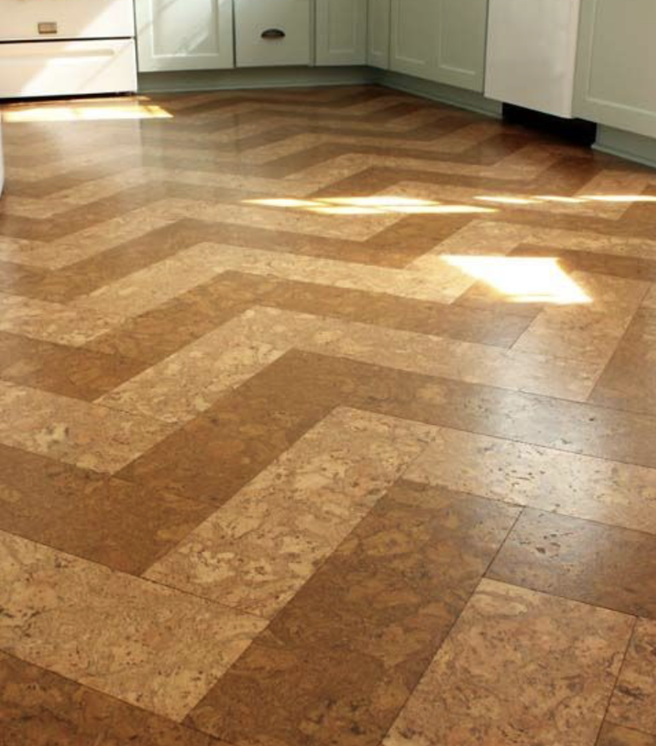 Cork flooring has come a long way with many more design options