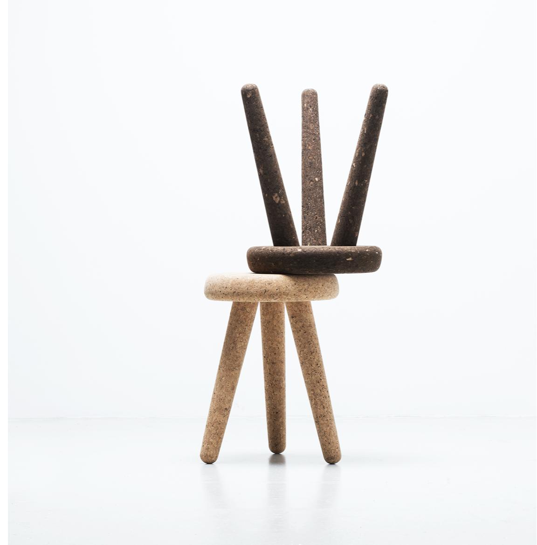 Cork Suber stools by Daniel Schofield