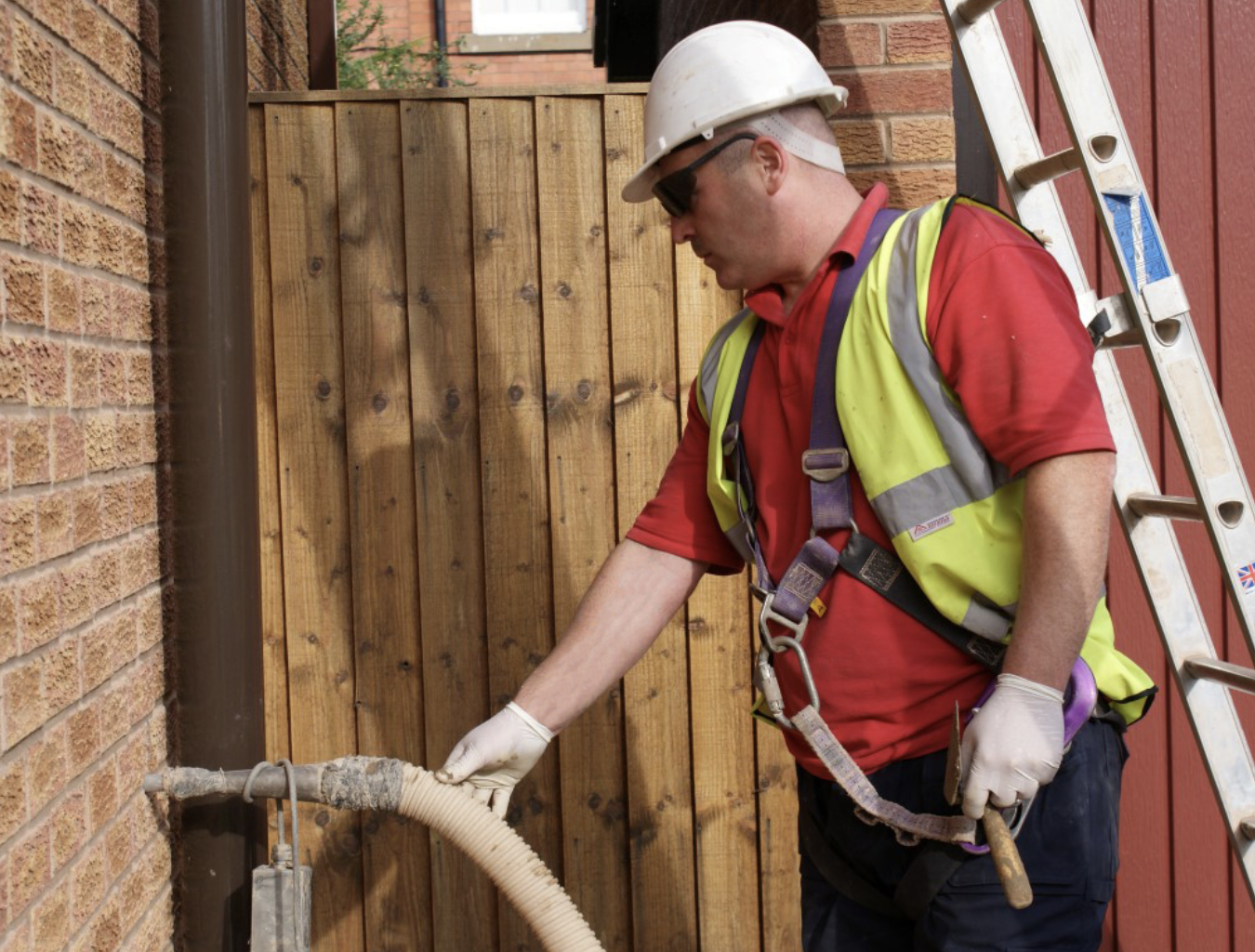 Cavity wall insulation could save your hundreds of pounds a year on fuel bills.