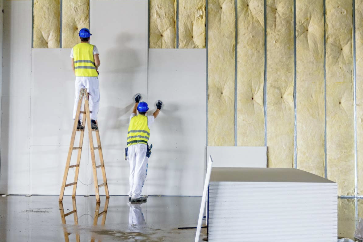 Internal wall insulation is crucial to keep the heat in