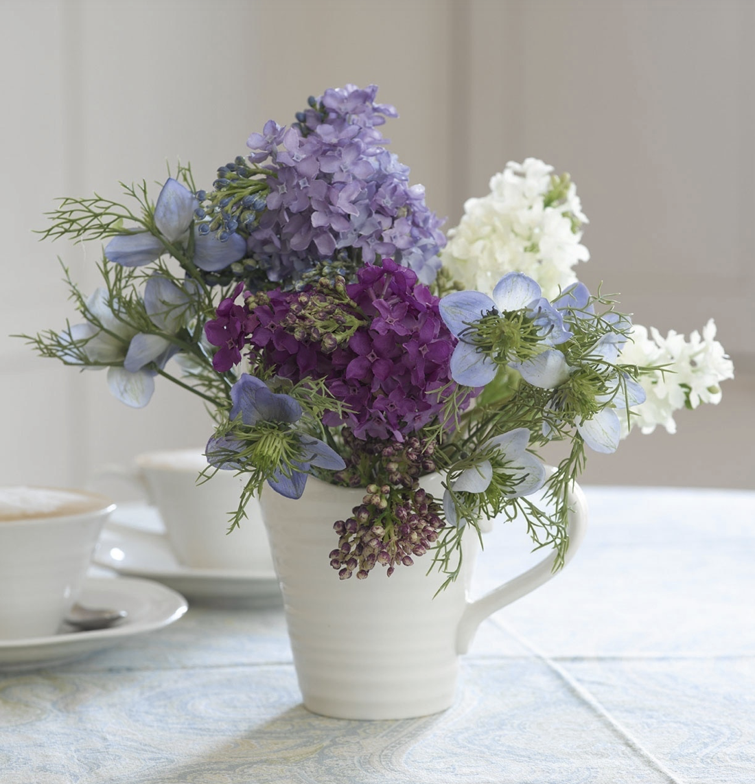 Garden flowers look great in a simple jug