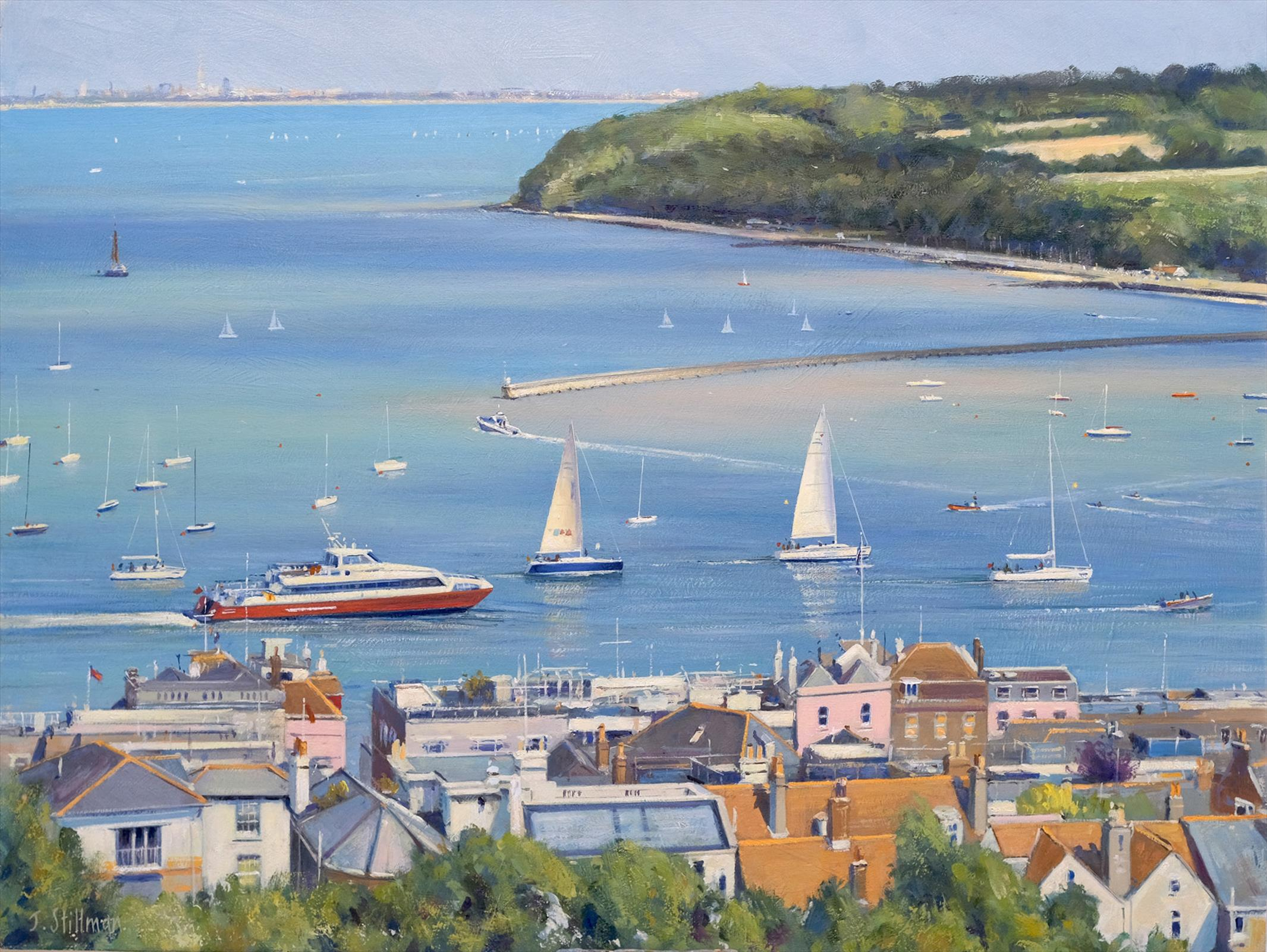 John Stillman Entrance to the Harbour cowes Isle of Wight