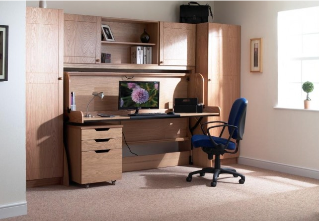 The Study Bed is excellent for small rooms. It's a wooden desk that quickly converts to a comfortabl