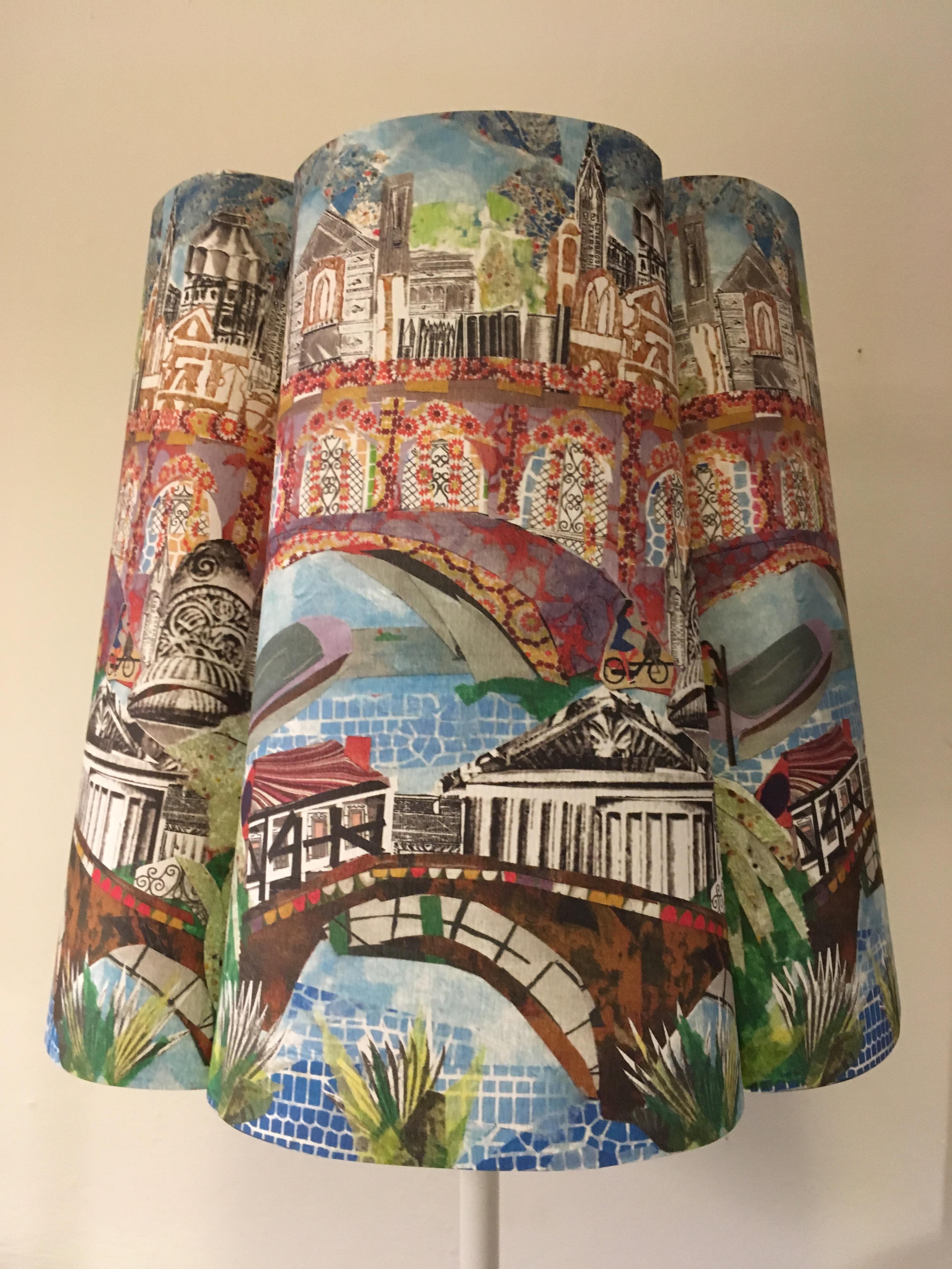 Cambridge paper shade by artist Ros Freeborn