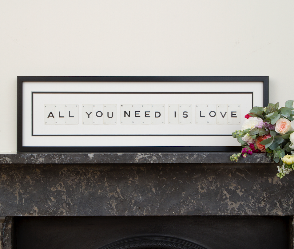 All You Need is Love from Vintage Playing Cards, £99