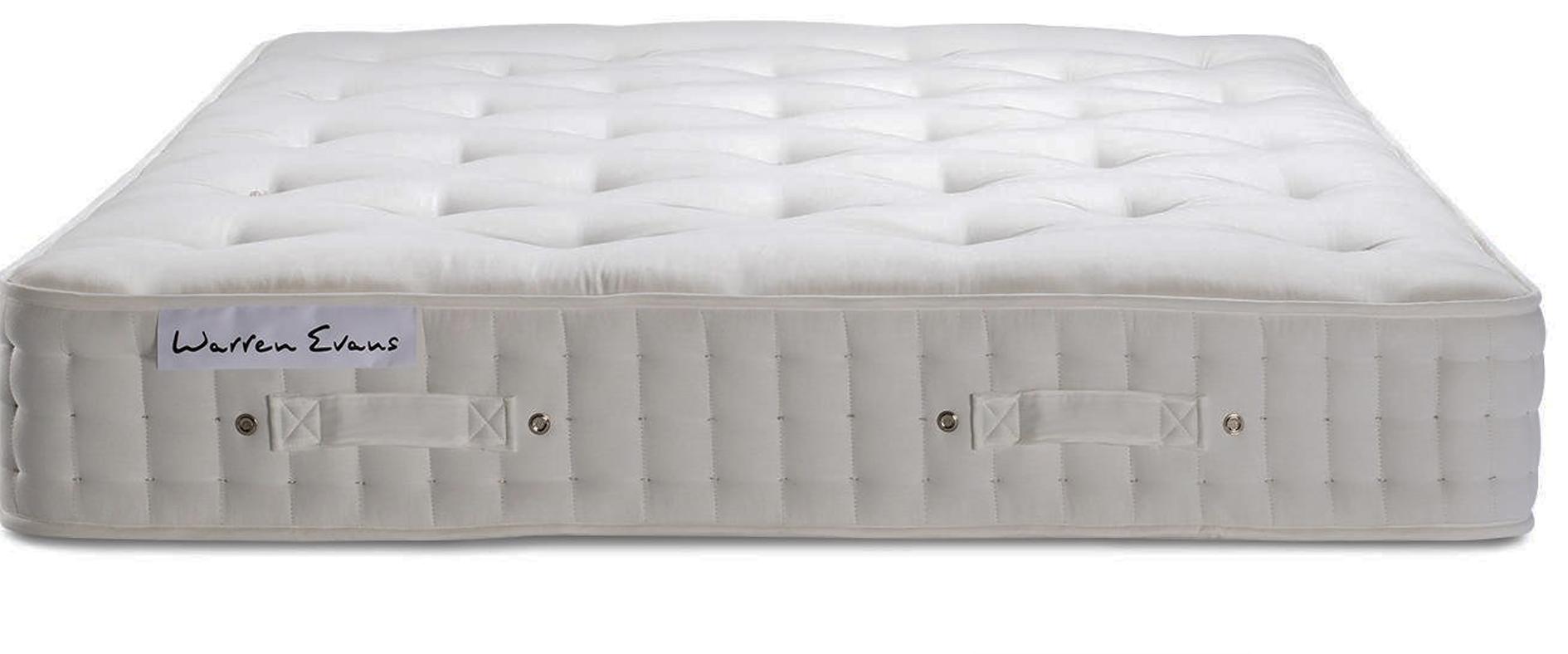 Warren Evans 6000 organic wool mattress, top to its mattress range. It's firm but sink-unable