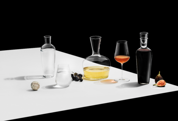For the wine buff in your life - a range of modern wide necked glass decanters