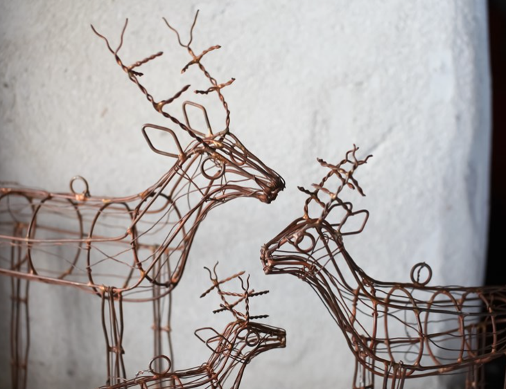 Wire reindeer, s,m,l, made in Rajasthan, from £7.95 at Nkuku, www.nkuku.com