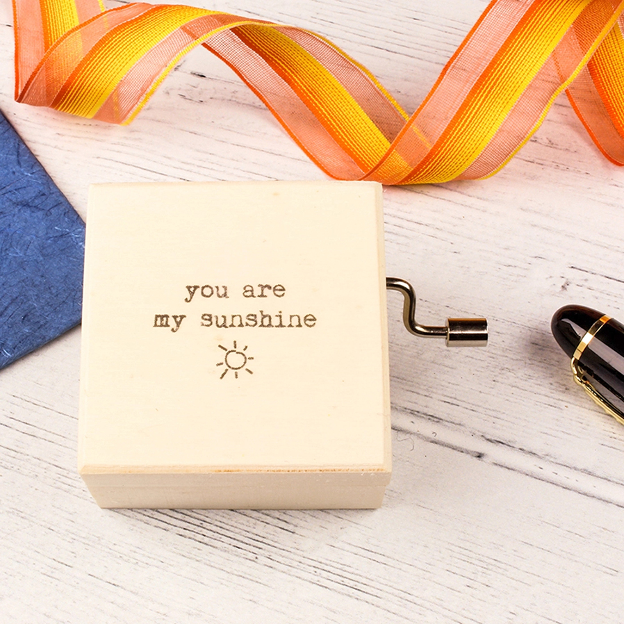 You Are My Sunshine music box from the British Craft House, £16.50