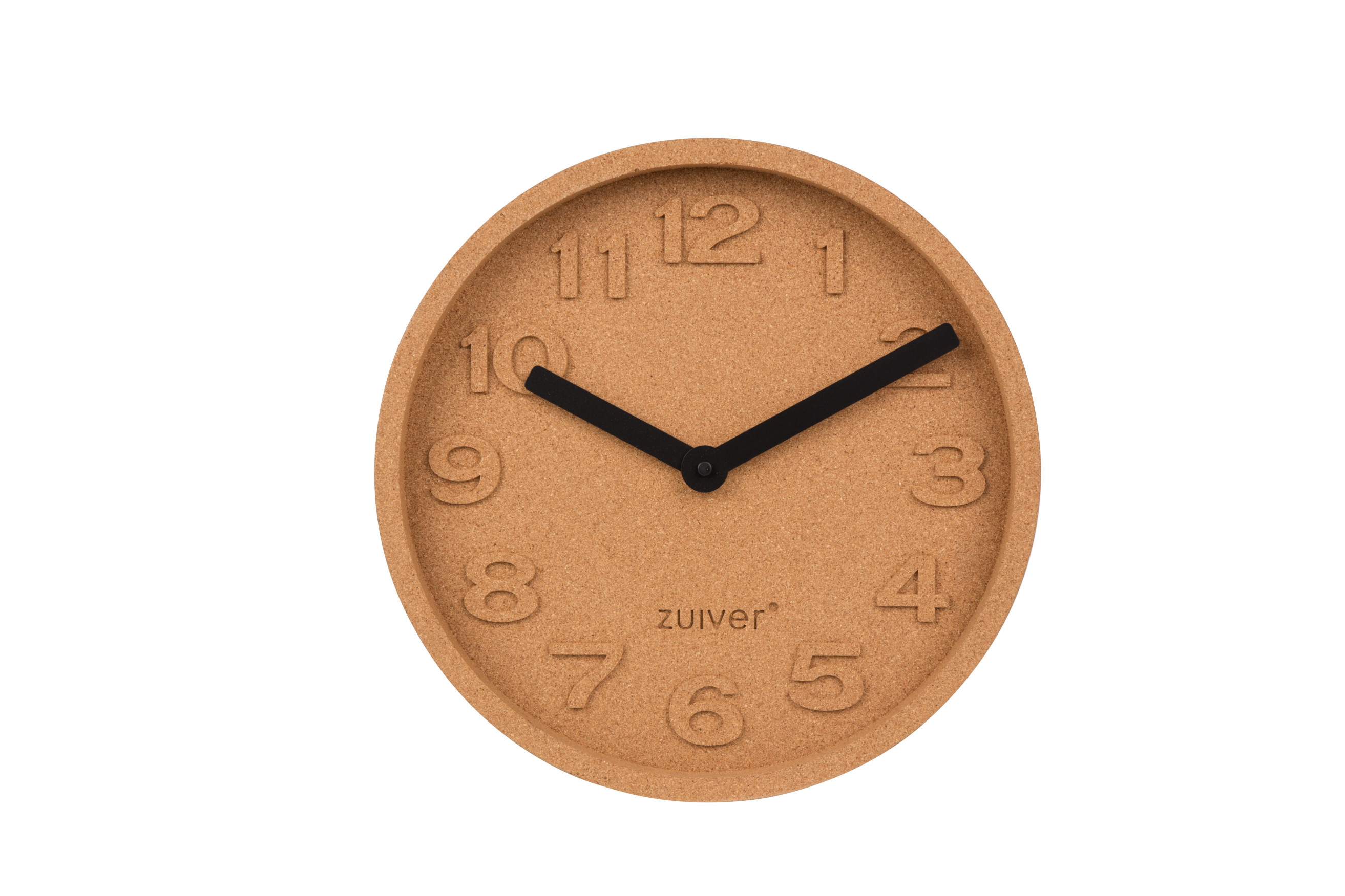 Zuiver cork clock with moulded numbers, £49 at Cuckooland
