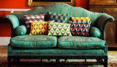 Geometric wool needlepoint cushions from Fine Cell Work