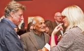 Joanna Lumley with Andrew Motion and Satish Kumar