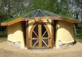Cob is perfect for creating a small garden studio or office