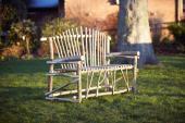 Hand made coppiced hazel garden bench, £100, des Res Design