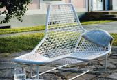 Italian furniture company Zanotta's Lama lounge chair is made from recycled PVC