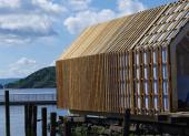 Boathouse clad with Kebony