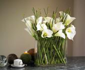 Silk Calla lillies form Bloom